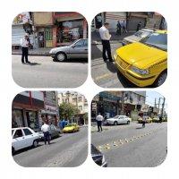 اجرای طرح برخورد با خودورهای مزاحم در ایستگاه تاکسی