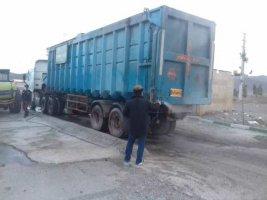 ضد عفونی کردن وسایل نقلیه مرکز دفن زباله