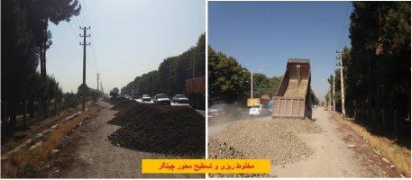 اجرایی کردن پروژه های معابر سطح شهر به روایت تصویر