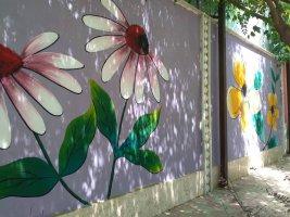 ادامه نقاشی دیواری در بوستان لاله ملارد