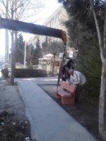 جانمایی نیمکت های بتنی در خیابان شهر ملارد