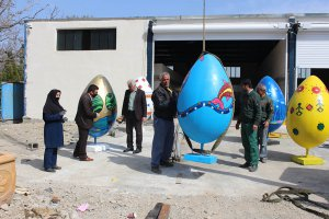 گزارش تصویری اجرای طرح جانمایی و نصب المانهای نوروزی
