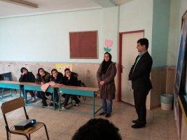 جلسه آموزش مدیریت پسماند در آموزشگاه حافظ روستای مهرآذین